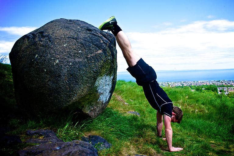 Tim Jordan • Personal Trainer Edinburgh • Outdoor Training • Decline Push Up